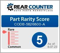 Rarity of CODB5826800A